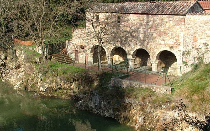 City wall ruins of bagni di petriolo monticiano
